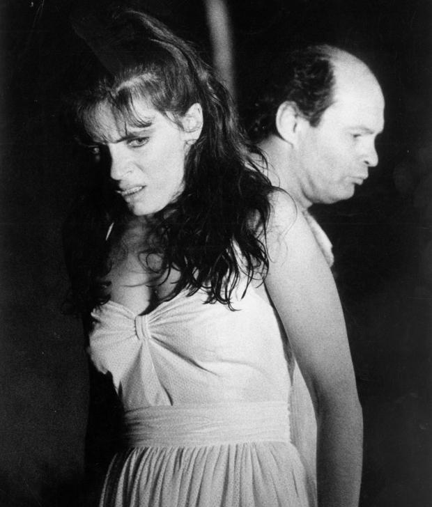 Mira Furlan kao Helena i Mustafa Nadarević kao Menelaj. Redatelj Paolo Magelli, Split 1990.
