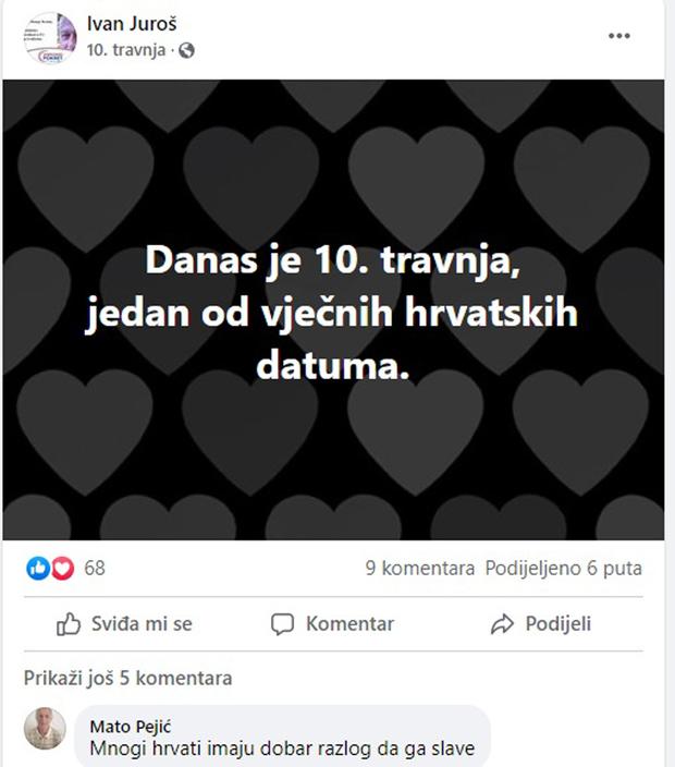 Ivan Juroš slavi obljetnicu NDH