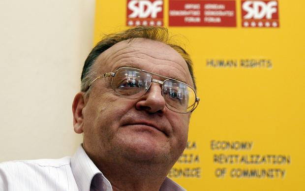 Veljko Džakula na SDF-ovoj konferenciji za medije, 2011.