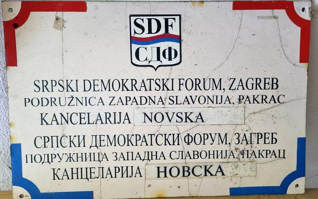 Tabla SDF-ove podružnice za zapadnu Slavoniju